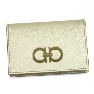 Ferragamo(フェラガモ) カードケース GANCINI ICONA VITELL 22A552 491420 ホワイト/ゴールド