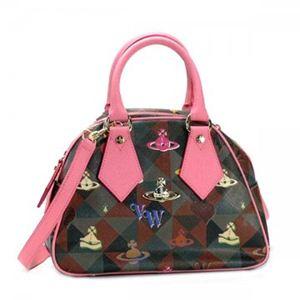 Vivienne Westwood(ヴィヴィアンウエストウッド) ハンドバッグ LOGOMANIA 13150 ピンク