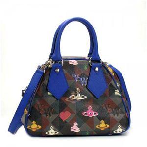 Vivienne Westwood(ヴィヴィアンウエストウッド) ハンドバッグ LOGOMANIA 13150 ブルー