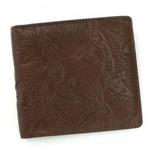 Vivienne Westwood(ヴィヴィアンウエストウッド) 二つ折り財布(小銭入れ付) CHAIN ORB 730V ダークブラウン - 拡大画像