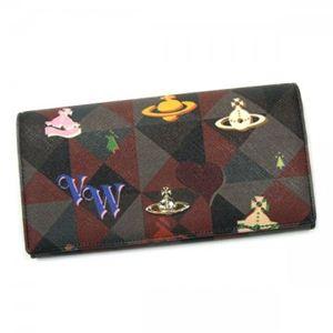Vivienne Westwood(ヴィヴィアンウエストウッド) 長財布 LOGOMANIA 32159 ブラック