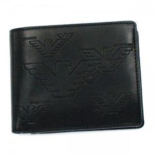 EMPORIO ARMANI(エンポリオアルマーニ) 二つ折り財布(小銭入れ付) LINEA MILANO YEMD45 80001 ブラック