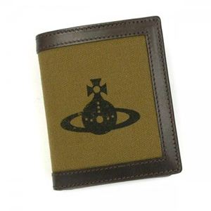 Vivienne Westwood(ヴィヴィアンウエストウッド) 二つ折り財布(小銭入れ付) AMALFI 33001 KAKI - 拡大画像