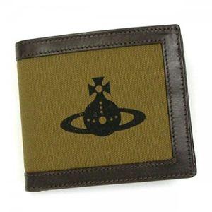 Vivienne Westwood(ヴィヴィアンウエストウッド) 二つ折り財布(小銭入れ付) AMALFI 33003 KAKI - 拡大画像
