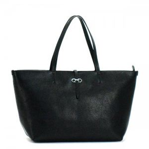 Ferragamo(フェラガモ) トートバッグ NEW ICONA PORTATUTTO 21C914 484561 NERO/MERCURIO