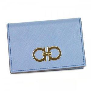 Ferragamo(フェラガモ) カードケース GANCINI ICONA VITELL 22A552 491418 NEW JEANS
