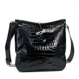 Longchamp(ロンシャン) ナナメガケバッグ ROSEAU STYLE CROCO 1051 1 BLACK