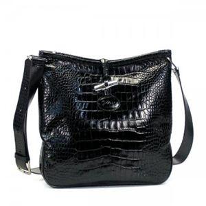 Longchamp(ロンシャン) ナナメガケバッグ ROSEAU STYLE CROCO 1051 1 BLACK