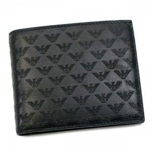 EMPORIO ARMANI(エンポリオアルマーニ) 二つ折り財布(小銭入れ付) LINEA MINORCA ALL-OV YEM122 80001 NERO