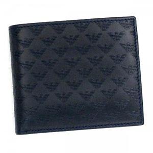EMPORIO ARMANI(エンポリオアルマーニ) 二つ折り財布(小銭入れ付) LINEA MINORCA ALL-OV YEM122 BLU