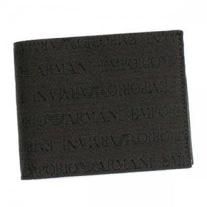 EMPORIO ARMANI(エンポリオアルマーニ) 二つ折り財布(小銭入れ付) LINEA TESSUTO LOGA YEM122 T.MORO