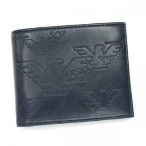 EMPORIO ARMANI(エンポリオアルマーニ) 二つ折り財布(小銭入れ付) LINEA MILANO YEM122 DARK AVIO