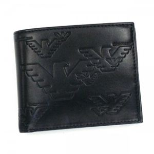 EMPORIO ARMANI(エンポリオアルマーニ) 二つ折り財布(小銭入れ付) LINEA MILANO YEM122 NERO
