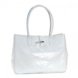 Longchamp(ロンシャン) トートバッグ ROSEAU STYLE CROCO 2686 7 WHITE