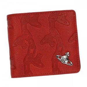 【2012年12月27日まで期間限定値下げ】Vivienne Westwood(ヴィヴィアンウエストウッド) 二つ折り財布(小銭入れ付) CHAIN ORB 730V  ROSSO - 拡大画像