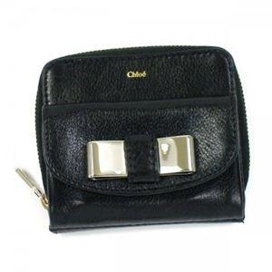 Chloe(クロエ) 二つ折り財布(小銭入れ付) LILY 3P0503 1 BLACK - 拡大画像