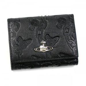 【2013年1月31日まで期間限定値下げ】Vivienne Westwood(ヴィヴィアンウエストウッド) 三つ折り財布(小銭入れ付) CHAIN ORB 1311V NERO - 拡大画像