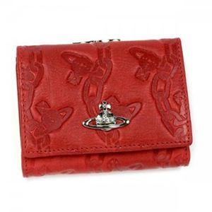 【2012年12月27日まで期間限定値下げ】Vivienne Westwood(ヴィヴィアンウエストウッド) 三つ折り財布(小銭入れ付) CHAIN ORB 1311V ROSSO - 拡大画像