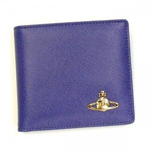 【2012年12月27日まで期間限定値下げ】Vivienne Westwood(ヴィヴィアンウエストウッド) 二つ折り財布(小銭入れ付) SAFFIANO 730V COBALTO - 拡大画像