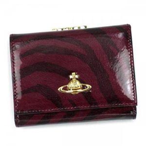 【2012年12月27日まで期間限定値下げ】Vivienne Westwood(ヴィヴィアンウエストウッド) 三つ折り財布(小銭入れ付) ANIMALIER 1311V CILIEGIA - 拡大画像