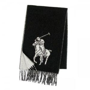 RalphLauren(ラルフローレン) マフラー 604664 105 POLO BLACK/ANDOVER CREAM - 拡大画像