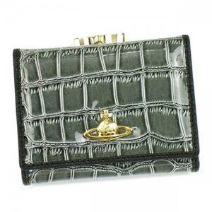 Vivienne Westwood(ヴィヴィアンウエストウッド) 三つ折り財布(小銭入れ付) CHANCERY 1311V OLIVE - 拡大画像