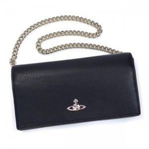 Vivienne Westwood(ヴィヴィアンウエストウッド) 長財布 CAMEO 32291 BLACK - 拡大画像