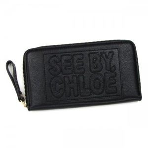 SEE BY CHLOE(シーバイクロエ) 長財布 ZIP FILE LEATHER 9P7155 1 BLACK - 拡大画像
