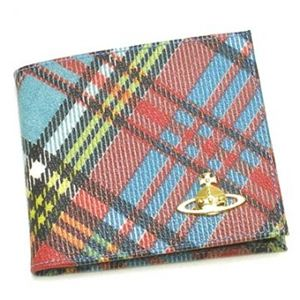Vivienne Westwood(ヴィヴィアンウエストウッド) 二つ折り財布(小銭入れ付) DERBY 730VV11 AZZURRO - 拡大画像