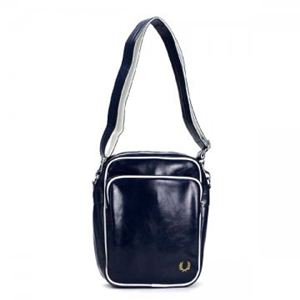 FRED PERRY(フレッドペリー) ナナメガケバッグ L1183 608 NAVY/WHITE - 拡大画像