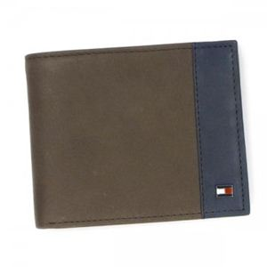 TOMMY HILFIGER(トミーヒルフィガー) 二つ折り財布(小銭入れ付) ALLERDALE 0091-4825 2 BROWN/NAVY - 拡大画像
