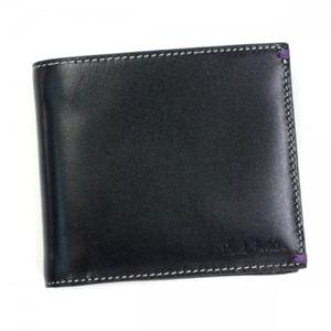 Paul smith(ポールスミス) 二つ折り財布(小銭入れ付) W516 AHXA1033 BLACK - 拡大画像