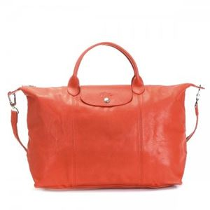Longchamp(ロンシャン) ナナメガケバッグ LE PLIAGE CUIR 1630 461 PAPRIKA - 拡大画像