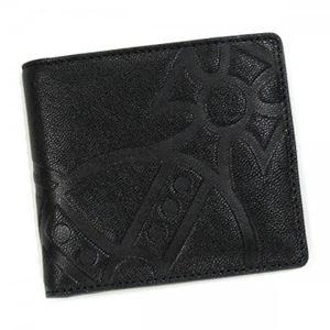 Vivienne Westwood(ヴィヴィアンウエストウッド) 二つ折り財布(小銭入れ付) GIANT ORB 730VV11 NERO - 拡大画像