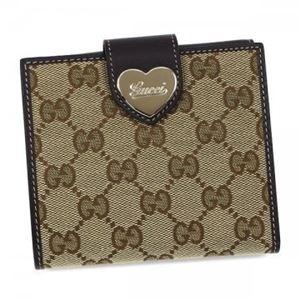 Gucci(グッチ) Wホック財布 203549 9643 BEIGE EBONY/COCOA - 拡大画像