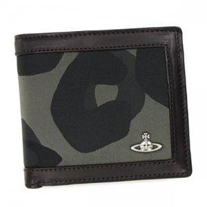 Vivienne Westwood(ヴィヴィアンウエストウッド) 二つ折り財布(小銭入れ付) 33051 GREEN - 拡大画像