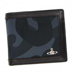 Vivienne Westwood(ヴィヴィアンウエストウッド) 二つ折り財布(小銭入れ付) 33051 BLUE - 拡大画像