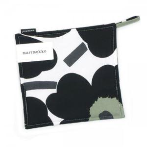 marimekko(マリメッコ) ポットホルダー 64159 30 WHITE/BLACK/OLIVE