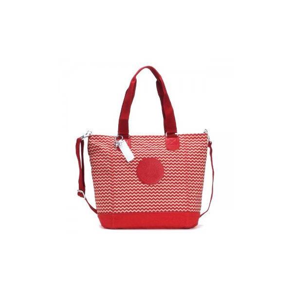 Kipling(キプリング) ハンドバッグ K12272 B40 CHEVRON RED Cf00