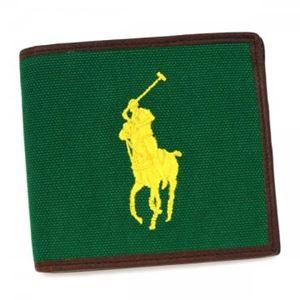 RalphLauren(ラルフローレン) 二つ折り財布(小銭入れ付)  4055166 98001 ATHLETIC GREEN