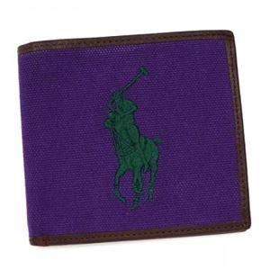 RalphLauren(ラルフローレン) 二つ折り財布(小銭入れ付)  4055166 98003 SQUIRE PURPLE