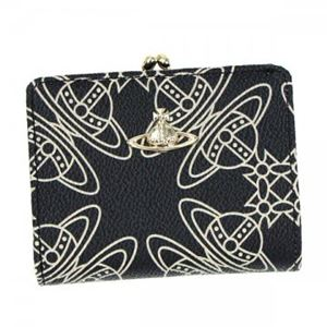 Vivienne Westwood(ヴィヴィアンウエストウッド) 二つ折り財布(小銭入れ付)  32332  BLACK