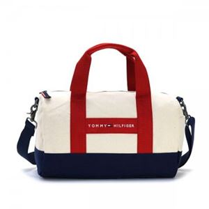 TOMMY HILFIGER(トミーヒルフィガー) ボストンバッグ 6923658 467 NATURAL/RED h01