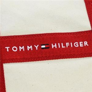 TOMMY HILFIGER(トミーヒルフィガー) ボストンバッグ 6923658 467 NATURAL/RED f04