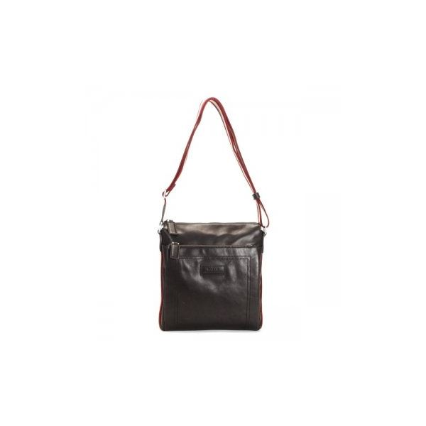 Bally(バリー) ナナメガケバッグ TUSTON-SM 261 CHOCOLATE RED/BEIGEf00
