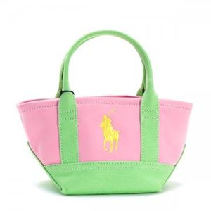 RalphLauren(ラルフローレン) トートバッグ 950040 HARBOUR PINK/LIME/YELLOW - 拡大画像