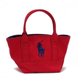 RalphLauren(ラルフローレン) トートバッグ 959004 RED CANVAS - NAVY h01