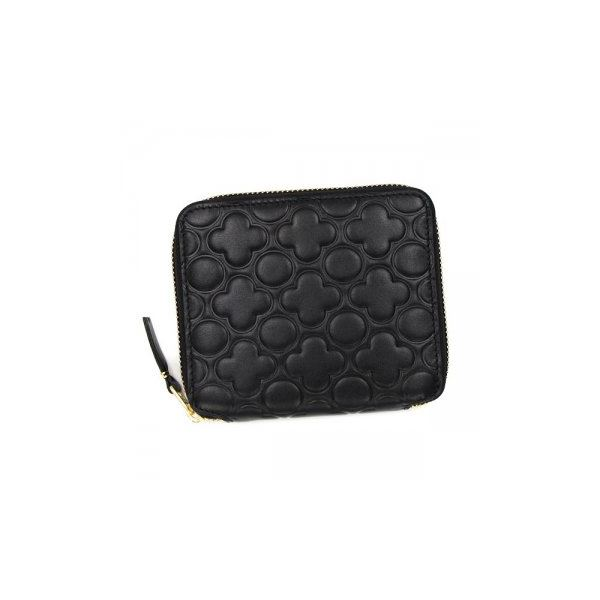 COMME des GARCONS(コムデギャルソン) 二つ折り財布(小銭入れ付) SA210EB BLACKf00