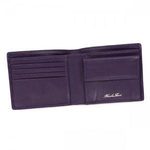 Nicola Ferri(ニコラフェリ) 二つ折り財布(小銭入れ付) GA10053 VIOLET h03