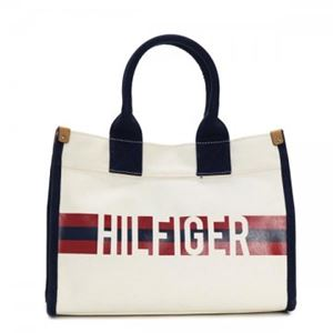 TOMMY HILFIGER(トミーヒルフィガー) トートバッグ 6929740 467 NATURAL/NAVY/RED h01